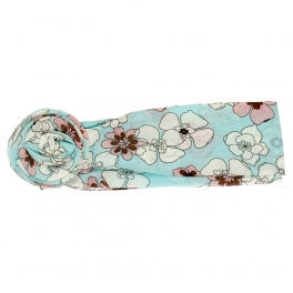 Wholesale L32E Floral Print Flower Ring Chiffon Belt L.BL
