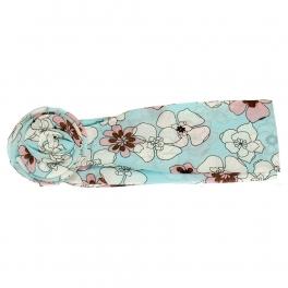 Wholesale L32E Floral Print Flower Ring Chiffon Belt L.BL