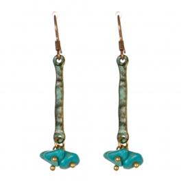 Wholesale M13D Faux Stone Beads Earrings OG