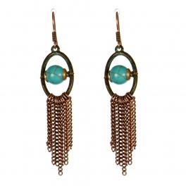Wholesale M13D Faux Stone Tassel Earrings OG