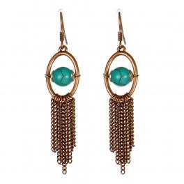 Wholesale M13D Faux Stone Tassel Earrings CB