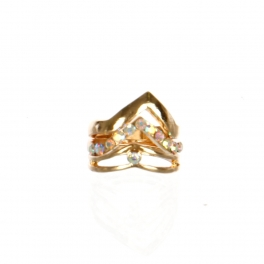 Wholesale M17B Chevron Layered Rings GAB