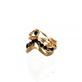 Wholesale M17B Chevron Layered Rings GBK