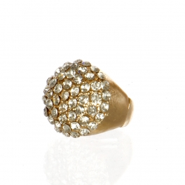 Wholesale M17C Rhinestone Done Ring GCL