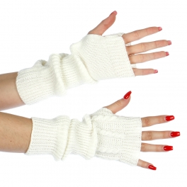Wholesale P37A Cable knit fingerless Glove arm warmerIV