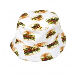 Wholesale V34 City Hunter Food Sublimated Bucket Hat WHITE