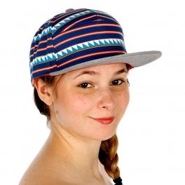 Wholesale V33 Triangle Stripe Snapback Hat ROYAL/LT.GRAY