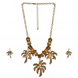 Wholesale L30B Palm Trees Charm Necklace Set G
