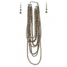 Wholesale L07D Multi Layer Chunky Beads Necklace Set SB