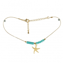 Wholesale L04E Starfish and Beads Anklet GDTQ
