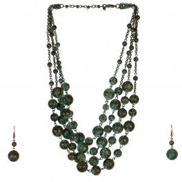 Wholesale M17D Ball Chain Necklace Set OG