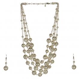 Wholesale M17D Ball Chain Necklace Set SB