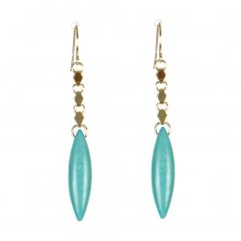 Wholesale M08C Almond Shape Pendant Earring GD