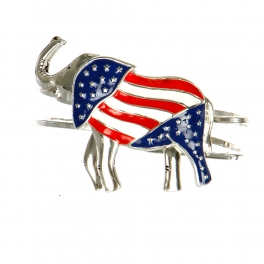 wholesale N32E Elephant w/U.S. Flag Design Hinge Bangle SMX