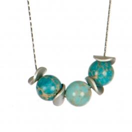 Wholesale M08C Faux Stones Long Necklace SV