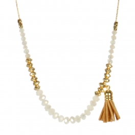 Wholesale M05B Beads w/ Tassel Long Necklace CRY