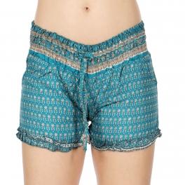 Wholesale I30E Ruffle Edge Tight Sari Shorts BD/OR