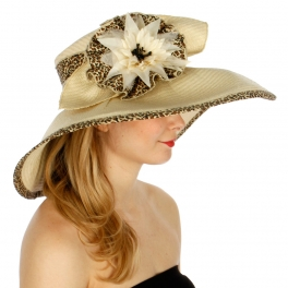 wholesale O50 Floral paper hat Leopard fashionunic