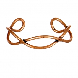 Wholesale M05E Burnished Wavy Cuff COP