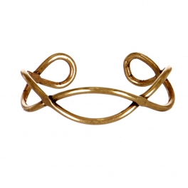 Wholesale M05E Burnished Wavy Cuff RGB