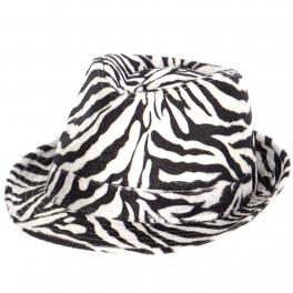 Wholesale V66C Zebra fedora BK/WH