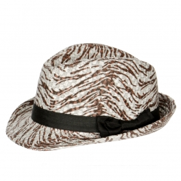Wholesale V04B Shiny zebra w/bow band SI