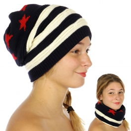 Wholesale O47D Stars and Stripes Beanie FL