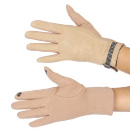 Wholesale P17A Smart Phone Friendly Hounds Tooth Buckle Gloves BE