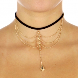 Wholesale L07C Chain Layered Choker Necklace GBKHE