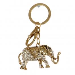 Wholesale L32D Rhinestone Metal Elephant Keychain GD