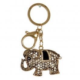 Wholesale L32D Rhinestone Cutout Elephant Keychain GD