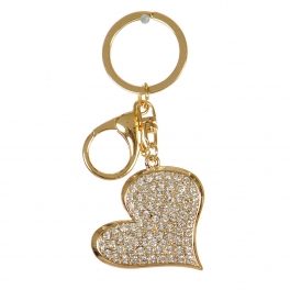 Wholesale M02E Studded Heart Keychain GD