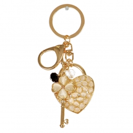 Wholesale M02E Clover Keys To My Heart Keychain GD