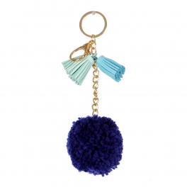Wholesale I36A Fluff Ball with Tassels Keychain GM