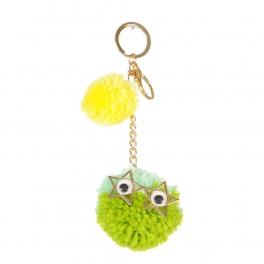 Wholesale I36A Mr. Fluff Ball w/ Star Eyes Keychain GMT
