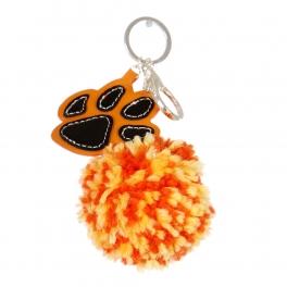 Wholesale I36A Fluff Ball w/ Dog Paw Keychain SJO