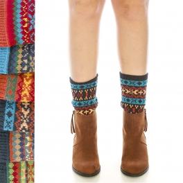 Wholesale S14B Short colorful print boot cuffs assorted colors Dozen