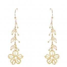 Wholesale WA00 Flower and beads drop earrings GCL