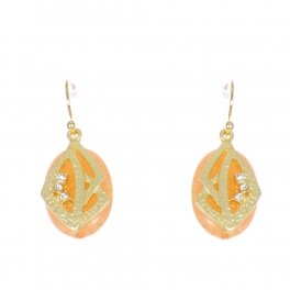 Wholesale WA00 Stone and metal earrings w/ rhinestone GCO