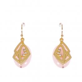 Wholesale WA00 Stone and metal earrings w/ rhinestone GPK