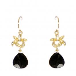 Wholesale WA00 Rhinestone and teardrop stone earrings GBK