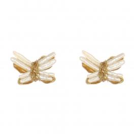 Wholesale WA00 Pearl Butterfly Studs G