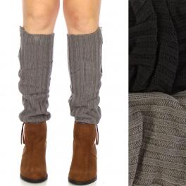 Wholesale R17BX00 Zippered leg warmers Dozen