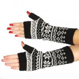 Wholesale T20 Mid-length winter pattern arm warmers BK