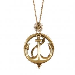 Wholesale M04C Anchor & rope pendant necklace GB