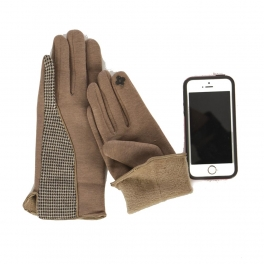 Wholesale O31A Smartphone friendly houndstooth gloves BE