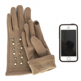 Wholesale O31A Smartphone friendly pearls and studs gloves BE