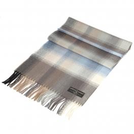 Wholesale P40B Softer than cashmere plaid scarf Blue