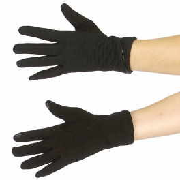 Wholesale R53A Smartphone friendly diamond piping gloves BK