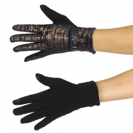 Wholesale S00B Smartphone friendly shiny snake skin print gloves NV